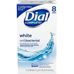 8 pack Dial Antibacterial Deodorant Soap (No Box), White, 4oz each
