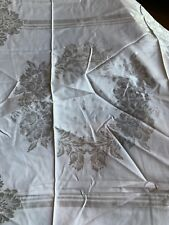 "Vintage Peach vintage Damask Tablecloth 48"" square perfect for brides cake table"