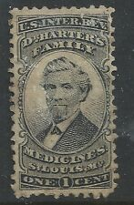 RS97a--DR HARTER'S 1  CENT PRIVATE DIE MEDICINE STAMP--46