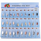 Lot 30pcs Kinds of Fish Fishing Lures Assorted Spoon Metal Hooks Baits Tackle