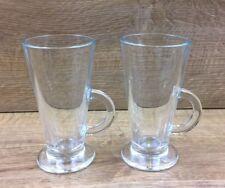 2  Latte Coffee Glasses V Shaped 150mm Tall
