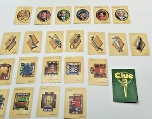 Clue 50th Anniversary Clue Cards & Envelope Set Complete Replacement Part Pieces