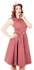 Women's Red Polka dot Vintage swing dress UK Sizes 8/10/12/14/16/18/20 1950's