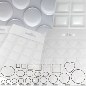 Clear Epoxy Resin Dome 3D Gel Stickers Silicone Round Circle Square Oval Heart
