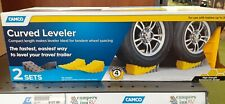 Camco 44425 Curved Leveler w Wheel Chock 4 Pieces