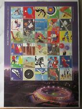 GB 2012 Olympics XXX OLYMPIAD The Sports of London Smiler Sheet mnh