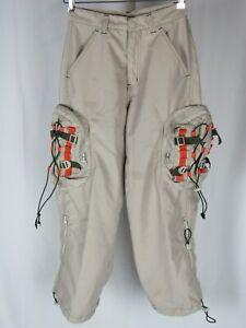"Vtg Macgear Cargo Pocket Baggy Pants 25"" x 26"" Wide Leg Goth Rave Boys Womens"