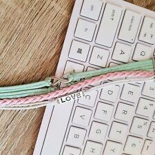 NEW Cute Jewelry Leather Infinity Charm Bracelet