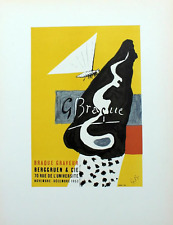 Georges Braque Lithograph Graveur Arum First Edition 1959