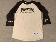 Justin Bieber x Champion Purpose The World Tour 2016 Rare Shirt Sz M concert