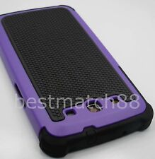 for Samsung galaxy s3 case purple black triple layers i9300 rugged hard soft