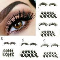 5 Pairs False Eyelashes Long Thick Winged Natural Fake Lashes Set Makeup M8L3