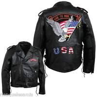 Cazadora Estilo Perfecto Cuero Hombre ~ Gran Talla M 3XL ~ Biker Harley Custom