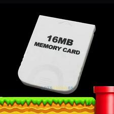 NEW 16MB 16M White Memory Card for Nintendo GameCube Wii Game System Console #L