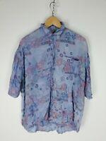 CAMICIA VINTAGE MADE IN ITALY  Maniche Corte Shirt Maglia Hemd Tg L Uomo Man