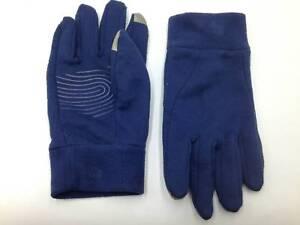 $99 Isotoner Mens Fleece Gloves Blue Sport Touchscreen Athletic Winter Size S M