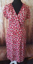 Jigsaw size 8 pink silk wrap effect shift dress NEW