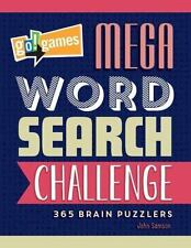 GO!GAMES MEGA WORD SEARCH CHALLENGE - SAMSON, JOHN - NEW PAPERBACK BOOK