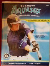 2007 Everett Aquasox Program Minor League