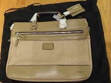 Tumi Luggage Bedford Jefferson Slim Briefcase With Shoulder Strap, Sand NWT