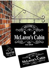 Ornate Personalised Hanging Pub sign, Home Bar, Man Cave mat plus 4 coasters