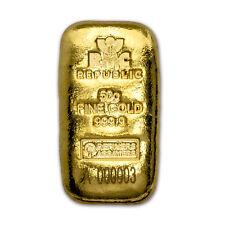50 gram Gold Bar - Republic Metals Corporation (Cast w/Assay)