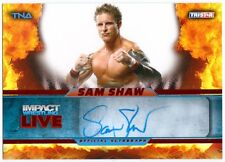 SAM SHAW 2013 TNA Impact Dual Red Auto Card 2/5 Signed Card