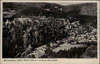 Schwarzburg DDR gut frankierte AK 1956 Panoranma Blick von der Anna Luisen Höhe