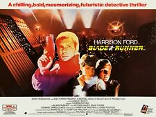 "Blade Runner 1982 repro UK Quad poster 30x40"" Harrison Ford Rutger Hauer FREEP&P"
