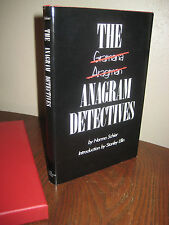 SIGNED 1st Limited Edition ANAGRAM DETECTIVES Norma Schier STANLEY ELLIN Mystery