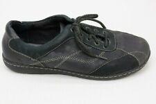 BOC Born Womens Black Leather Lace Up Sneakers Shoes Size 9   C96103 CIF15