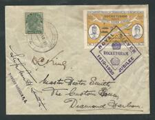 1935 INDIA rocket mail SILVER JUBILEE Diamond Harbour - Stephen H. Smith EZ9C1
