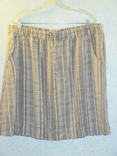 Eddie Bauer~Adventure Skirt Tie Dye Sz XL~Drawstring~Pull On~NWT~$40~Taupe