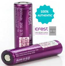 2x Fest 18650 3500mAh 20A 3.7v Rechargeable Batteries   High Drain Flat-Top