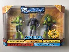 "DC Universe 4"" Figure 3 Pack LEX LUTHOR & 2 LEXCORP TROOPERS DCU Crisis"