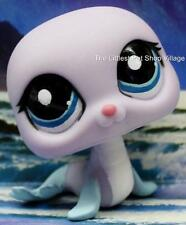 LITTLEST PET SHOP ❄ LILAC PURPLE & BLUE SEAL 1445 ❄ NEW ❄ SQUEAKY CLEAN SEA LION