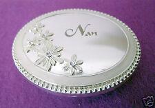 Nan - Silver Plate/Enamel Compact Mirror.