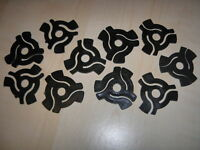 10 X 45 RPM RECORD ADAPTERS / CENTRES / SPINDLES