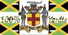 JAMAICA LICENSE PLATES 100% YARDIE