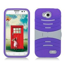 LG Optimus L90 Hybrid Rugged Armor w/Stand Case Cover D405