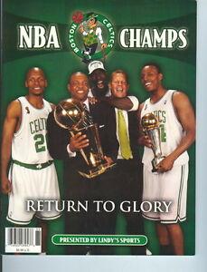 2008 Boston Celtics NBA Champs Return to Glory Magazine Tribute Garnett/Pierce/