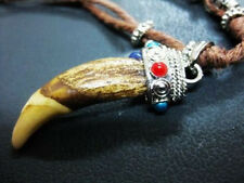 10 Necklace Tibet brown WolfTooth Bead *Barbarian* pendants Gothic