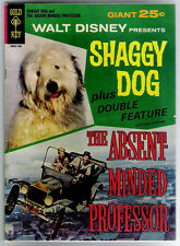 (1967) GOLD KEY MOVIE COMICS 30032-708 SHAGGY DOG ABSENT MINDED PROFESSOR GIANT!