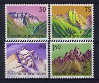 LIECHTENSTEIN 1989 MNH SC.911/914 Mountains