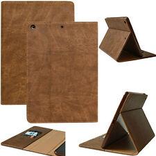 Leder Cover für Apple iPad Air 1 Tablet Schutzhülle Smartcase Tasche braun