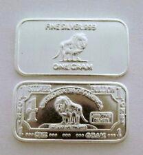 10 Stück 1 Gramm 999 Silber Silberbarren Wildlife Löwe