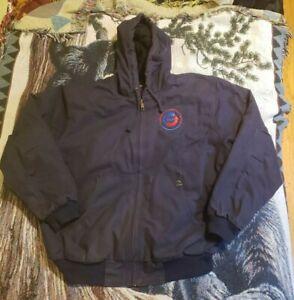 Men's Dri Duck Cheyenne Boulder Cloth Hooded Jacket, Navy Blue XL