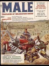 Male Magazine July 1959 Kunstler Cov James Bama Pollen DeSoto Art Pin-Up Girl VG