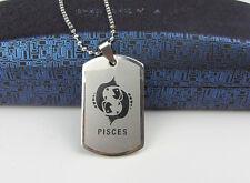 Pisces 1pcs  Women/ Men's Silver 316L Stainless Steel  Pendant Necklace