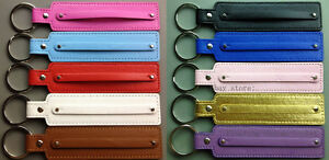 10pcs Mixed Colors 8mm PU Leather Key chains ( String of 8mm Slide Charms )